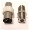 Female to Female or Back to Back couplers, CoAx and F type