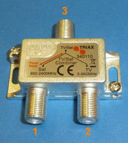 Internal diplexer for Satellite plus Terrestrial