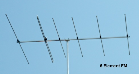 6 element FM : the highest gain FM aerial