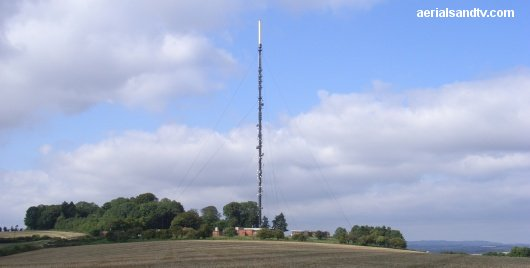 Hannington TV transmitter up on the North Downs