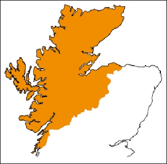 NW Scotland carriage supplement area (plus all offshore locations)