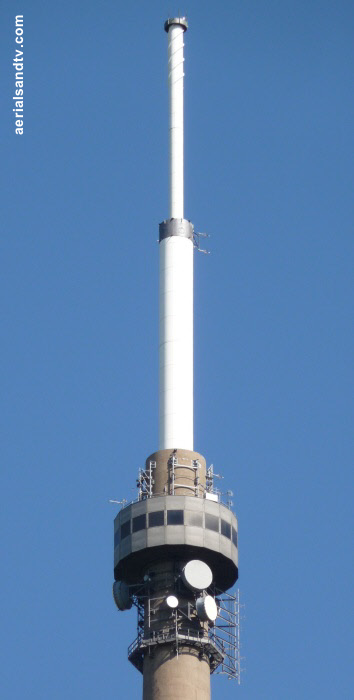 Emley Moor transmitter : the top bit ! (the business end)