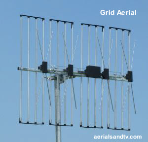 Grid / quad stacked array aerial