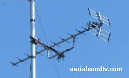 Correctly mounted aerial cradle, RHS of pole