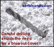 Careful drilling avoids the need for a blowout cover !