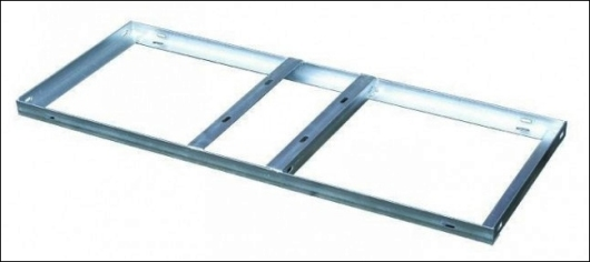 Heavy duty flat roof mounting tray.