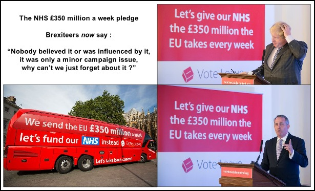 The NHS £350 million a week EU referendum promise, Boris Johnson, Liam Fox, and THE bus