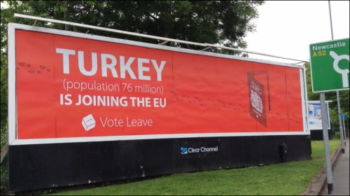 Turkey IS joining the EU : Leave referendum poster lie.